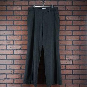 CALVIN KLEIN Gray Dress Trousers Wide Leg Size 8